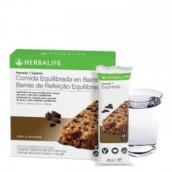 Barritas Herbalife Fórmula 1 Express Sabor Chocolate Herbalife